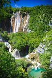 водопады plitvice национального парка Хорватии Стоковые Изображения