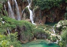 водопады plitvicka jezera Стоковое Изображение