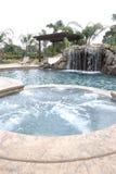 водопад бассеина задворк роскошный Стоковая Фотография