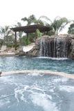 водопад бассеина задворк роскошный Стоковое Фото