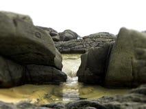 Водопад бассейна утеса Стоковое Фото