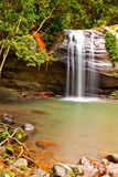 водопад выдержки длинний привлекательно старомодный Стоковая Фотография RF