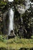 Водопад в горах в Непале среди зеленых растений Стоковые Изображения