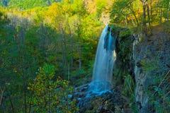 Водопад в долгой выдержке Стоковое Изображение