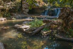 Водопад в лесе Лациа Стоковые Изображения RF