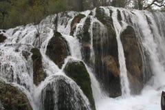 Водопад в национальном парке Jiuzhaigou Стоковые Фотографии RF