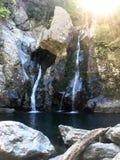 Водопад в парке стоковое изображение rf