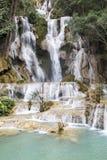Водопад в prabang luang, Лаосе Стоковое Изображение