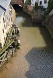Водопад в saarburg стоковое изображение