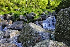Водопад в unmotain Польше Tatra Стоковое Изображение RF