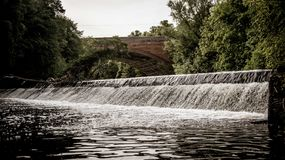Водопад Глазго Кельвина стоковые фотографии rf