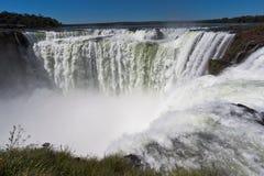 водопад горла дьяволов Аргентины Бразилии Стоковая Фотография