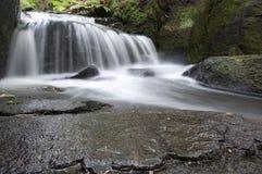 водопад долины lumsdale Англии Стоковые Фотографии RF