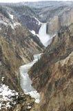 Водопад желтого камня Стоковые Фотографии RF