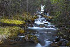 Водопад заводи Canmore стоковые изображения