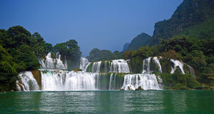 Водопад запрета Gioc - Detian Стоковые Изображения RF