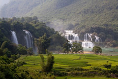 Водопад запрета Gioc - Detian Стоковое Изображение