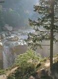 водопад Индии ganga свирепствуя одичалый Стоковая Фотография