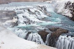 водопад Исландии gullfoss стоковое фото