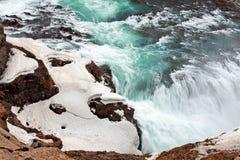водопад Исландии gullfoss стоковые фото