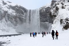 водопад Исландии sk gafoss стоковые фото