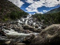 Водопад и облака Uchar Стоковая Фотография RF