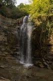 Водопад каньона Legvtakhevi в районе ванны городка Tbilisi's старого, Abanotubani, Тбилиси стоковые изображения