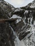 Водопад, Колорадо, co, США, перемещение, шоссе, ночной, выравнивая съемку, долгая выдержка стоковая фотография rf