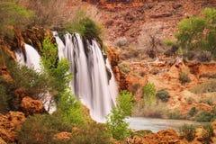 Водопад - красивый ландшафт - национальный парк Аризона AZ США гранд-каньона Havasupai стоковые фото