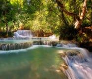 Водопад Лаос Стоковое Изображение RF