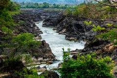 Водопад Лаос PA peng Lipi жулика стоковые изображения rf