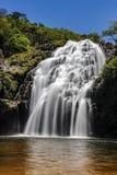 Водопад Марии Augusta на Sao Batista делает Глорию, Serra da Canastra - мины Gerais, Бразилию стоковые фотографии rf