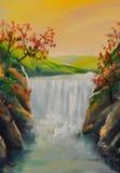 водопад масла ландшафта бесплатная иллюстрация