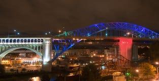водопад моста Стоковое Изображение