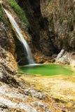 Водопад на источнике реки Soca Стоковое Фото