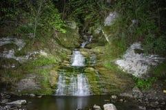 Водопад на ноче Стоковое Изображение RF