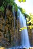 Водопад на озерах Plitvice в Хорватии Стоковая Фотография RF