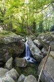 Водопад на пути между Ioannis к Volos, Греции стоковые изображения rf