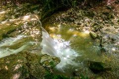 Водопад на реке Mebre 4 Стоковые Фотографии RF