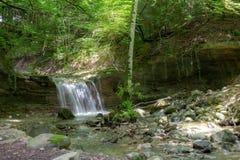 Водопад на реке Mebre 8 Стоковое Фото