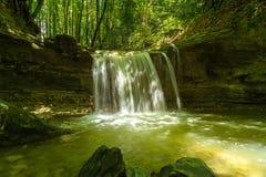 Водопад на реке Mebre 13 Стоковое Изображение RF