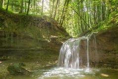 Водопад на реке Mebre 11 Стоковая Фотография RF