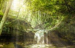 Водопад на реке Mebre 10 Стоковое Фото