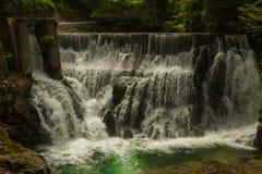 Водопад на ущелье Vintgar стоковые изображения