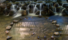 водопад ночи Стоковые Фото