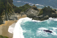 водопад океана Стоковая Фотография