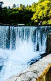 Водопад, парк, ландшафт, природа, вода, зеленые цвета стоковые фото