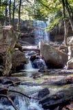 Водопад Пенсильвании в красивом парке штата стоковое изображение rf