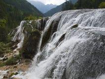 водопад перлы jiuzhaigou фарфора Стоковая Фотография