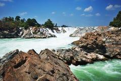 водопад пер PA kon Стоковая Фотография